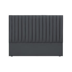 Sivé čelo postele Cosmopolitan design NJ, 140×120 cm