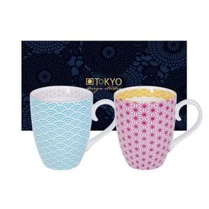 Sada modrého a ružového hrnku Tokyo Design Studio Star/Wave, 380 ml