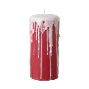 Červená sviečka Parlane Drips, výška 15cm