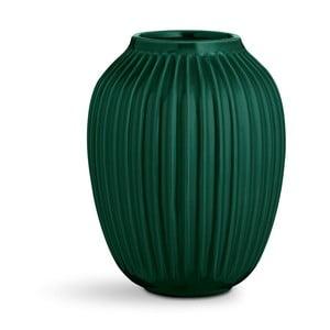 Zelená kameninová váza Kähler Design Hammershoi, výška 25 cm
