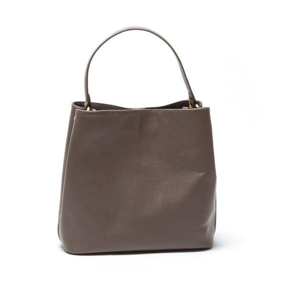 Kožená kabelka Vittoria, sivohnedá