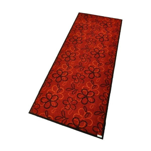 Rohožka Floral Red, 67x180 cm