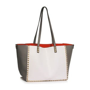 Sivo-biela kabelka L&S Bags Av Niel