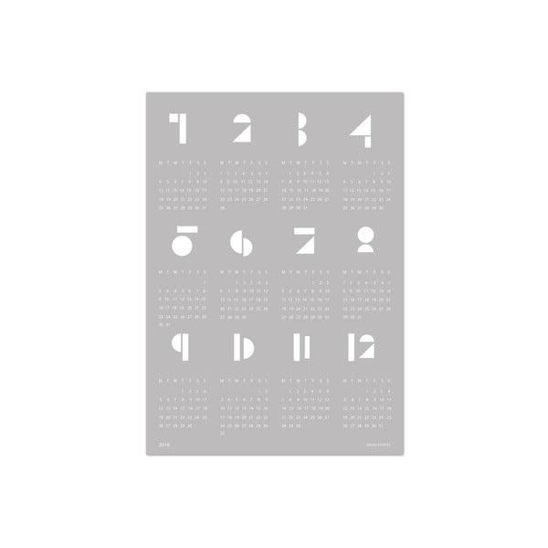 Nástenný kalendár SNUG.Toy Blocks 2017, sivý