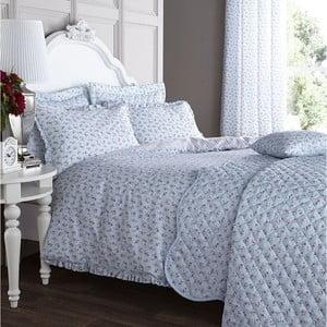 Obliečky na manželskú posteľ Ditsy Duck Egg, 200x200 cm