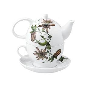 Porcelánová čajová kanvica so šálkou Flutter