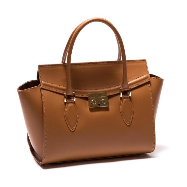 Hnedá kožená kabelka Roberta M Riccarda
