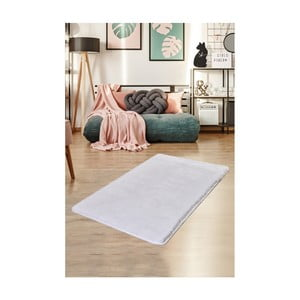 Biely koberec Milano, 140 × 80 cm