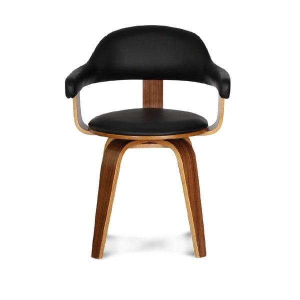 Čierna otočná stolička Opjet Suédoise