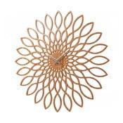 Nástenné hodiny Present Time Sunflower Wood