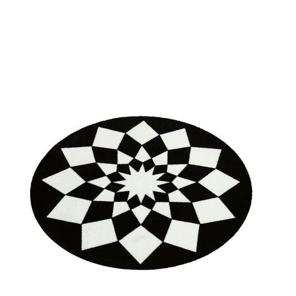 Koberec Deko - čierna geometria, 100 cm