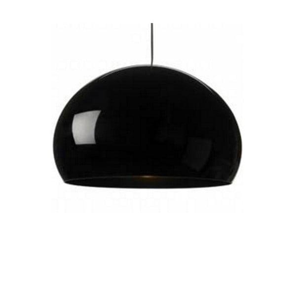 Lesklé čierne stropné svietidlo Kartell Fly
