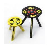 Sada 2 ručne maľovaných stoliček Ludos