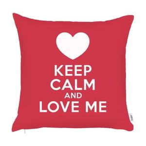 Červená obliečka na vankúš Apolena Keep Calm, 43 x 43 cm