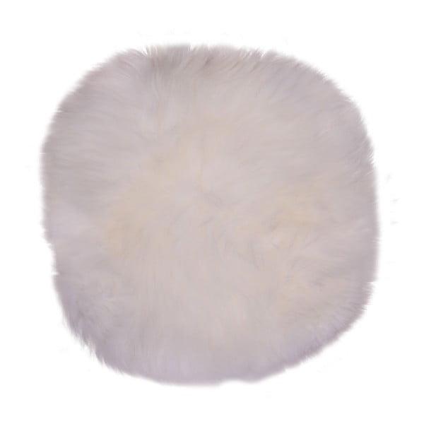 Biela ovčia kožušina House Nordic Circle, ⌀ 35 cm