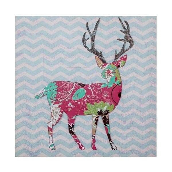 3D Obrázok Red Reindeer, 40x40 cm