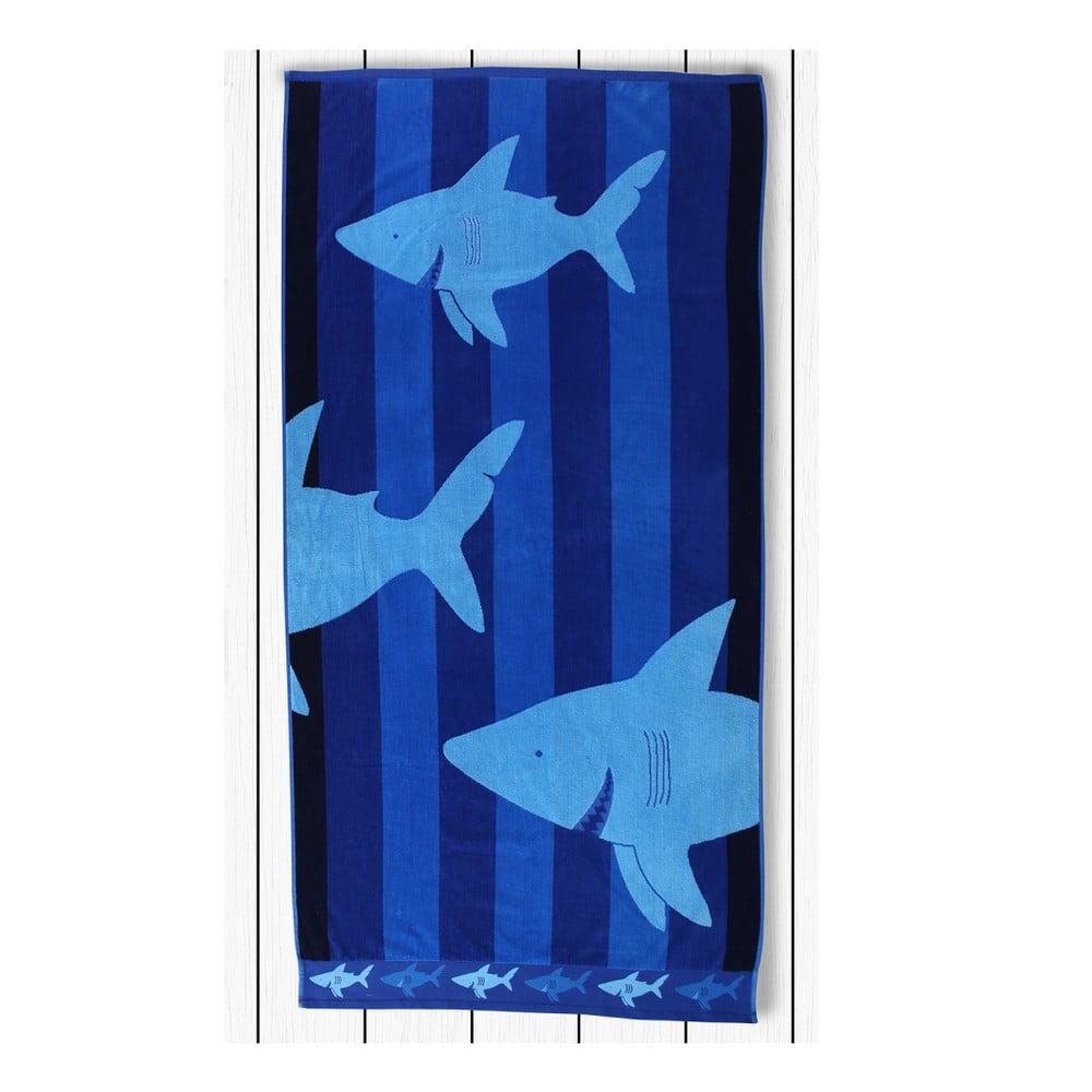 Bavlnená osuška DecoKing Sharky, 180 x 80 cm