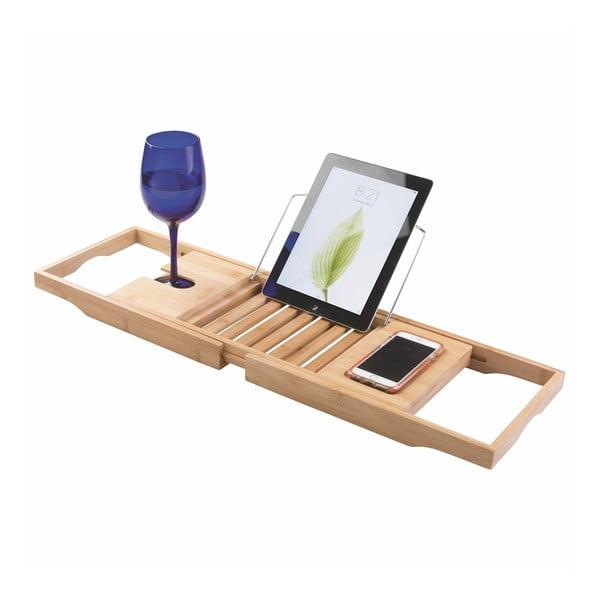 Bambusový nastaviteľný odkladací podnos na vaňu iDesign Formby
