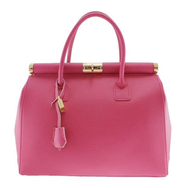 Fuchsiová kožená taška Blair