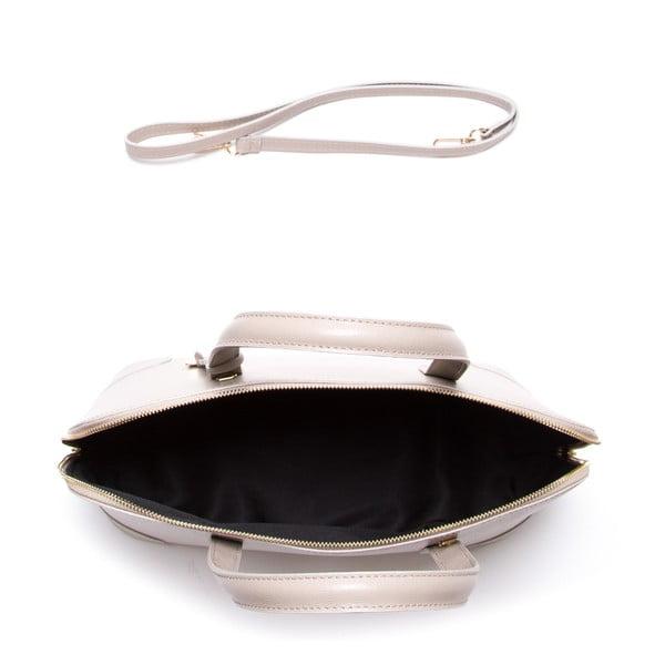 Kožená kabelka Luisa Vannini 422, béžová