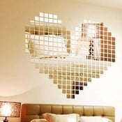 Sada 100 zrkadlových samolepiek Ambiance Mosaic
