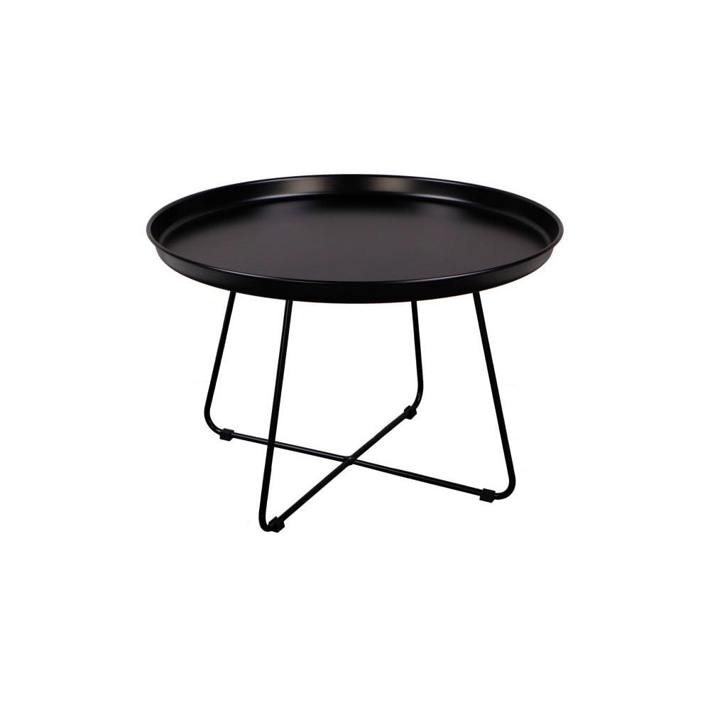 Čierny konferenčný stolík Nørdifra Pogorze, Ø 63 cm