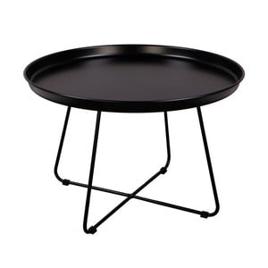 Čierny konferenčný stolík Nørdifra Pogorze, Ø63cm
