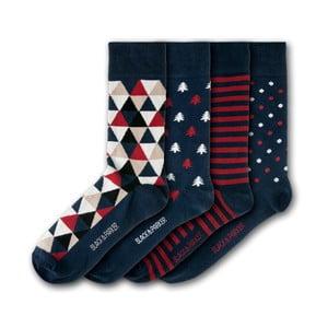 Sada 4 párov unisex ponožiek Black&Parker London Castle Drogo, veľkosť 37 - 43