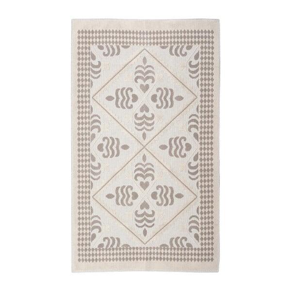 Krémový bavlnený koberec Floorist Flair, 80x150cm