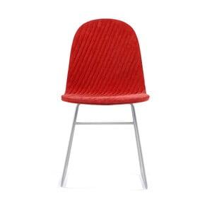 Červená stolička s kovovými nohami IKER Mannequin V Stripe