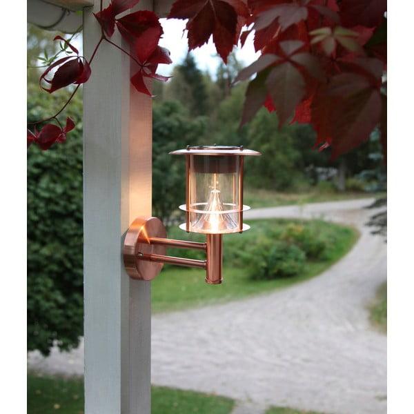 Vonkajšie svetlo Solar Energy Wall Lantern Rose