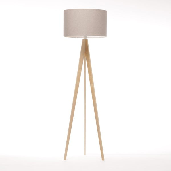 Stojacia lampa Artist Brown Grey Felt/Natural, 125x42 cm
