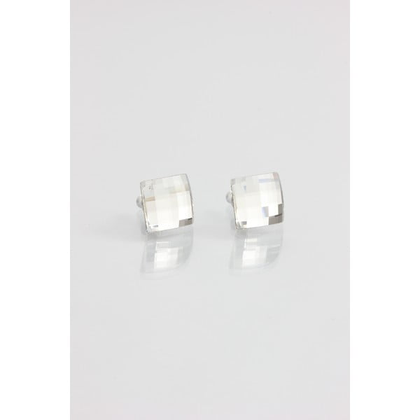 Náušnice Swarovski Crystals Laura Clear, 10x10 mm