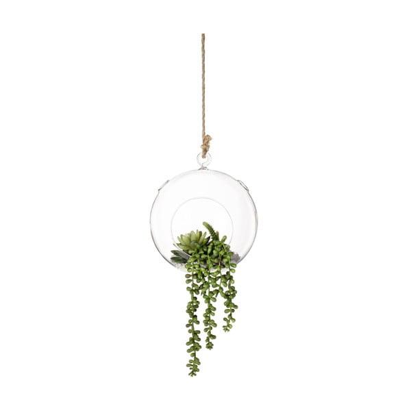 Závesná váza s umelými kvetmi Bubble