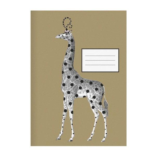Zápisník Giraffe Gold, A4