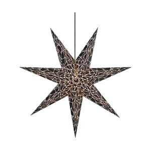 Čierna závesná sveteľná dekorácia Markslöjd Karla, ø 75 cm