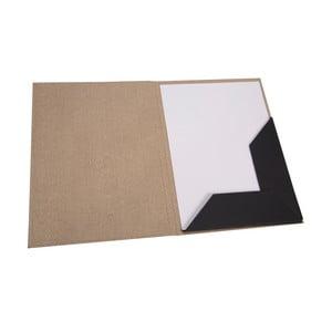 Hnedá obálka s elastickým zapínaním Bigso, veľkosť A4
