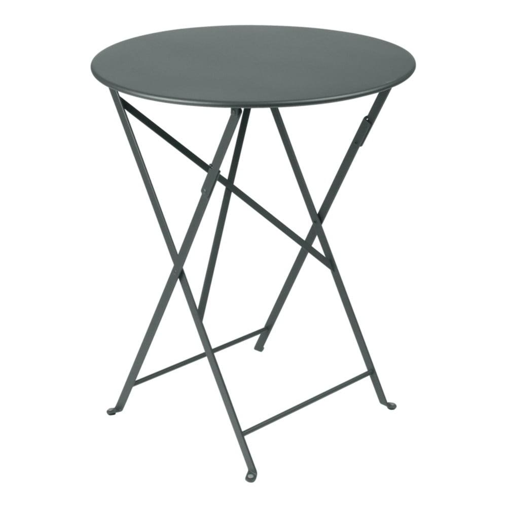 Sivý záhradný stolík Fermob Bistro, Ø 60 cm