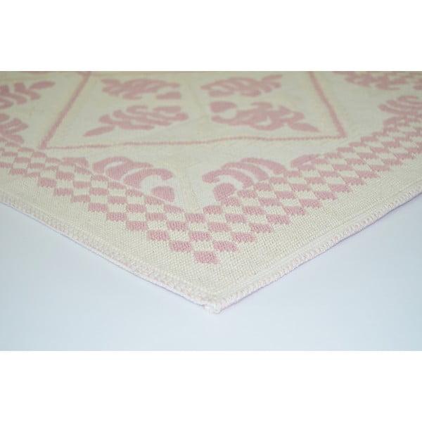 Pudrovoružový odolný koberec Vitaus Lulu, 80x200cm