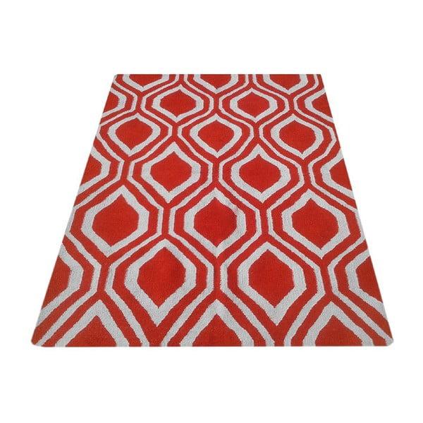 Vlnený koberec Kilim 65 Orange, 160x220 cm