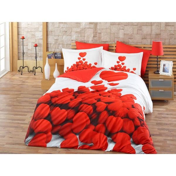 Obliečky s plachtou Romantic Red, 200x220 cm