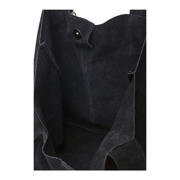 Čierna kožená kabelka Ficus