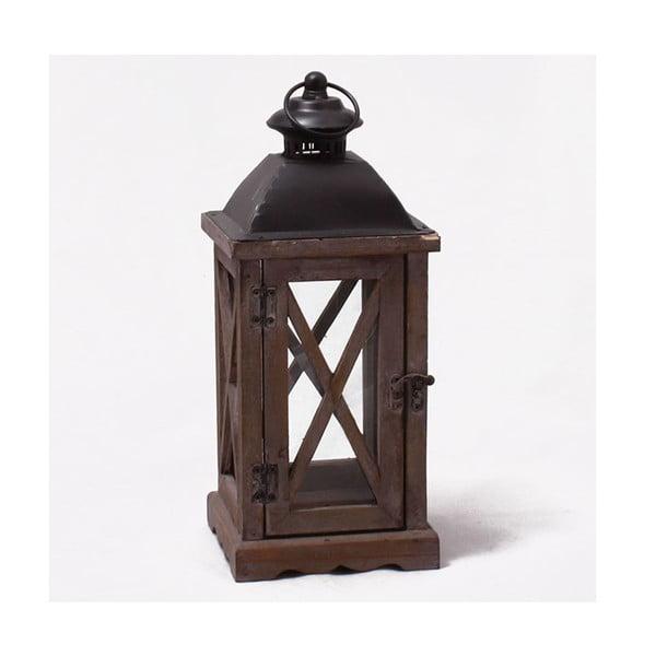 Drevený lampáš Little Brown House