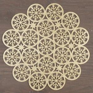 Okrúhle prestieranie  v zlatej farbe InArt XMas Snowflake