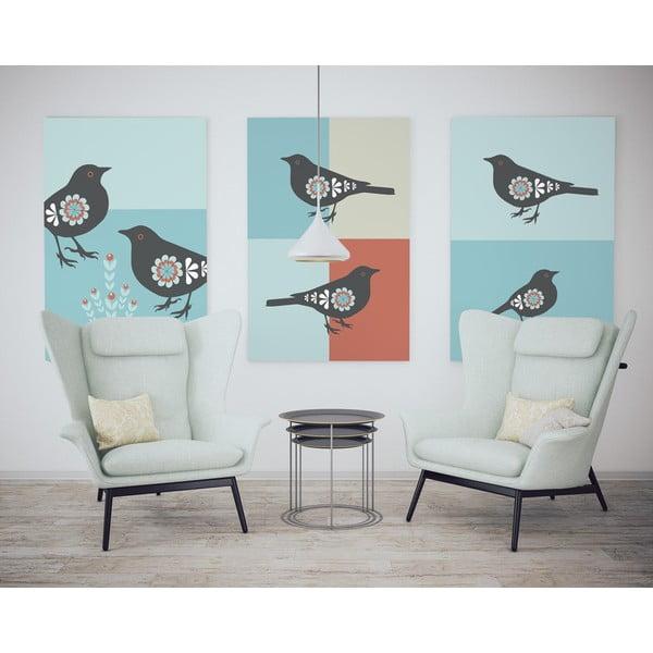 Plagát Vtáčiky s rastlinkou, veľký