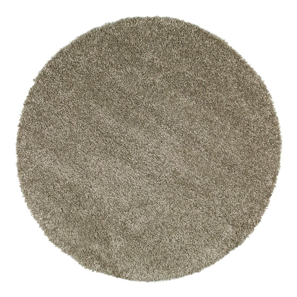 Sivý koberec Universal Aqua Liso, ø 80 cm