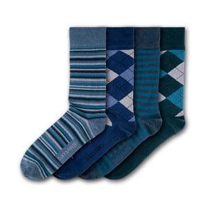 Sada 4 párov ponožiek Black & Parker London Soho, vl. 37 - 43