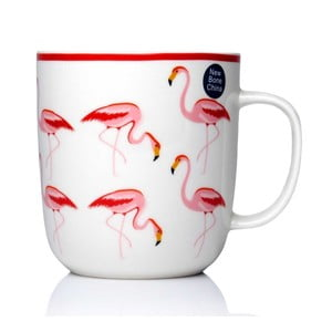 Hrnček z kostného porcelánu Sabichi Flamingo, 450ml