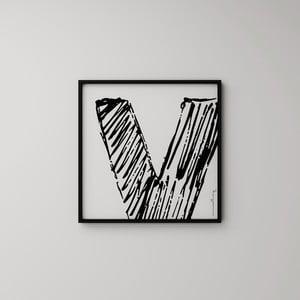 Plagát Litera V, 50x50 cm