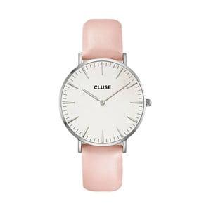 Dámske hodinky s ružovým koženým remienkom Cluse La Bohéme